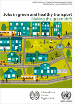 "Cover ""Jobs in green and healthy transport"""